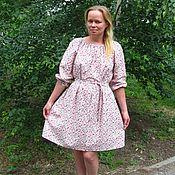 """Одежда ручной работы. Ярмарка Мастеров - ручная работа Летнее платье """"Цветочное"""". Handmade."""