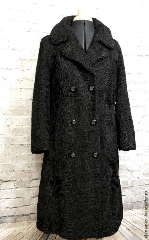 Верхняя одежда ручной работы. Ярмарка Мастеров - ручная работа. Купить Пальто из каракуля swakara. Handmade. Черный, мех, шубка