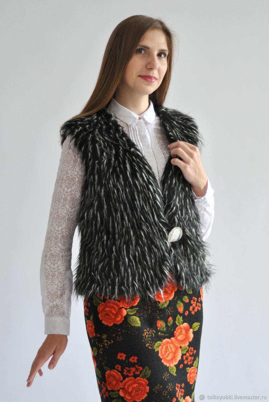 The faux fur vest, Vests, Novosibirsk,  Фото №1