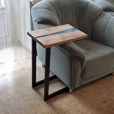 Для дома и интерьера ручной работы. Ярмарка Мастеров - ручная работа Приставной стол-река в стиле ЭКО-ЛОФТ. Handmade.