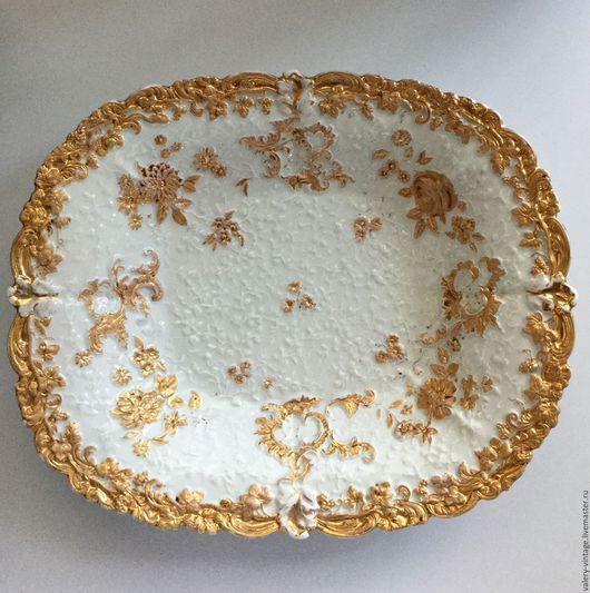 Винтажная посуда. Ярмарка Мастеров - ручная работа. Купить Антикварное блюдо Meissen.. Handmade. Meissen, антиквариат, старинная тарелка