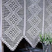 Для дома и интерьера handmade. Livemaster - original item Curtain crochet. Handmade.