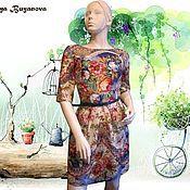Одежда handmade. Livemaster - original item Dress Vanilla from Pavlovoposadskaja scarf. Handmade.