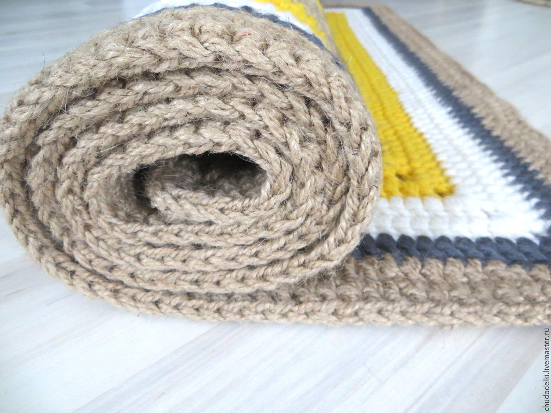 Вязание покрывала из шнура