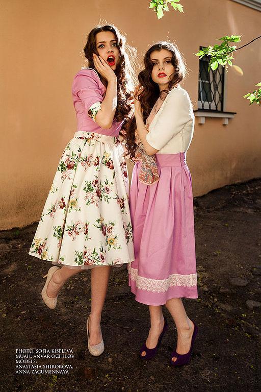 """Платья ручной работы. Ярмарка Мастеров - ручная работа. Купить Платье """"Розалия"""". Handmade. Розовый, платье для выпускного, ретро стиль"""