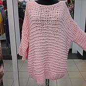 Одежда ручной работы. Ярмарка Мастеров - ручная работа свитер очень мягкий оверсайз нежно абрикосового цвета. Handmade.