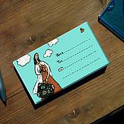 Сувениры и подарки ручной работы. Ярмарка Мастеров - ручная работа Набор визитных карточек «Девушка с чемоданом». Handmade.