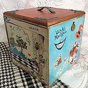 """Короб ручной работы. Ярмарка Мастеров - ручная работа """"Все мы немного сумасшедшие"""" коробка деревянная. Handmade."""