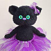 Куклы и игрушки ручной работы. Ярмарка Мастеров - ручная работа Чёрный котёнок вязаная игрушка. Handmade.