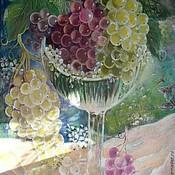 """Картины и панно ручной работы. Ярмарка Мастеров - ручная работа Картина """"Янтарный виноград"""" натюрморт,зелёный,жёлтый. Handmade."""