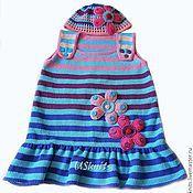 Работы для детей, handmade. Livemaster - original item Knitted baby dress and cap. Handmade.