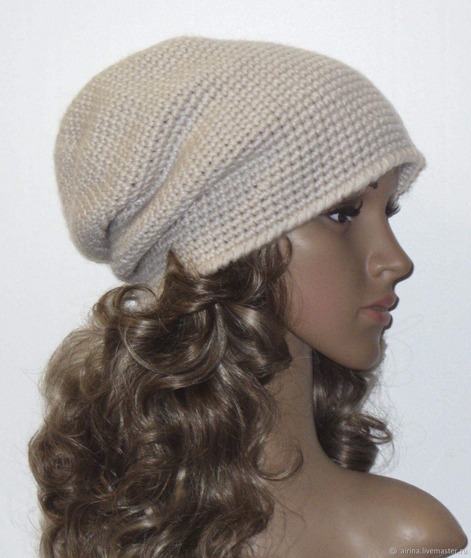 Hats handmade. Livemaster - handmade. Buy Beanie hat, ivory.Headband, headdress, boho hat, acrylic