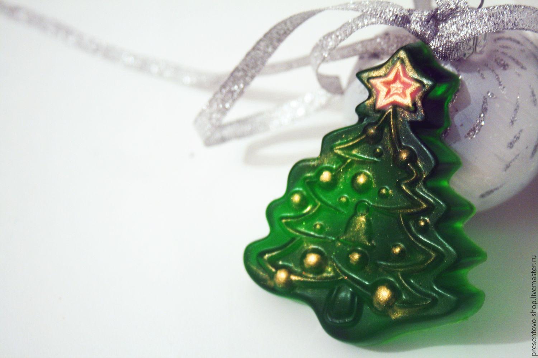 Мыло ручной работы новогоднее Елка