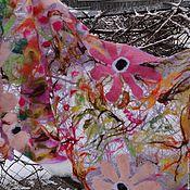 "Аксессуары ручной работы. Ярмарка Мастеров - ручная работа Палантин-паутинка валяный ""Яркая осень"". Handmade."