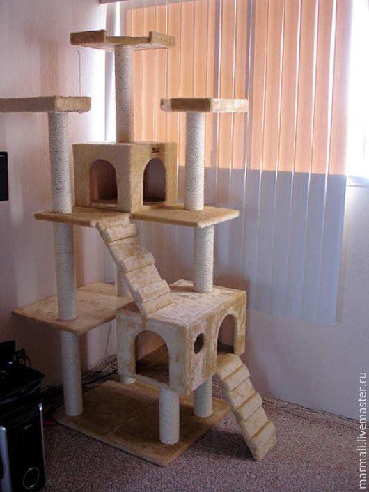 Аксессуары для кошек, ручной работы. Ярмарка Мастеров - ручная работа. Купить КОГТЕТОЧКА  Мега. Handmade. Тёмно-синий, домик для кошек