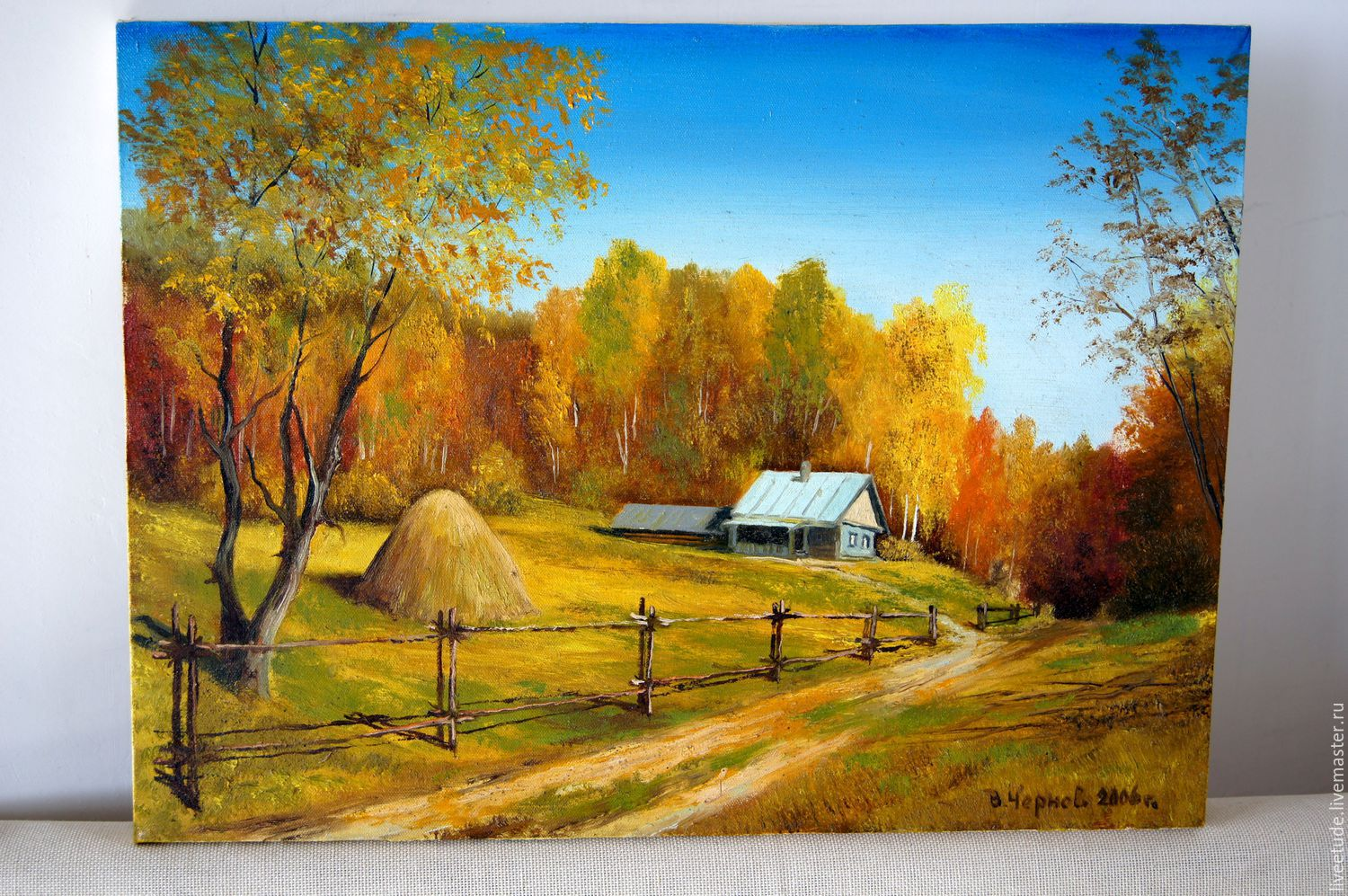 Oil painting landscape glubinka author 39 s work shop for Buy mural paintings online