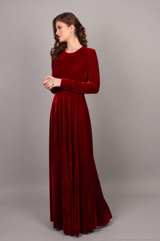 Velvet Christmas dress – shop online on Livemaster with shipping ...