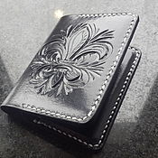 Сумки и аксессуары handmade. Livemaster - original item Personalized leather wallet, image, business card, monogram, personal. Handmade.