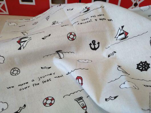 Шитье ручной работы. Ярмарка Мастеров - ручная работа. Купить Ткань льняная морская. Handmade. Бежевый, ткань для кукол