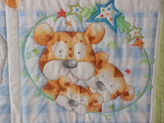"""Пледы и одеяла ручной работы. Ярмарка Мастеров - ручная работа. Купить Одеяло """"Тигренок, его семья и друзья"""". Handmade. одеяло"""