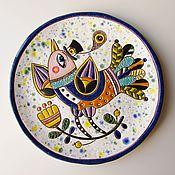 """Посуда ручной работы. Ярмарка Мастеров - ручная работа Декоративная тарелка """"Птаха"""". Handmade."""