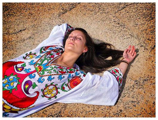 """Платья ручной работы. Ярмарка Мастеров - ручная работа. Купить платье """"Цветник"""". Handmade. Платье, летнее платье, восточный стиль"""