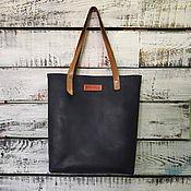 Сумки и аксессуары handmade. Livemaster - original item Leather shopper bag womens blue. Handmade.
