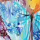 Turquoise butterfly-a bright oil painting on canvas. Pictures. Annet Loginova. My Livemaster. Фото №4