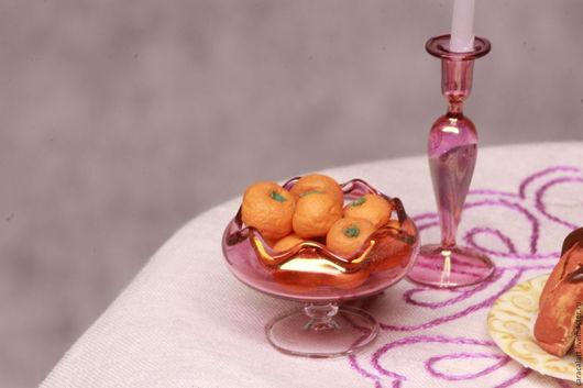 Еда ручной работы. Ярмарка Мастеров - ручная работа. Купить Мандарины из полимерной глины. Handmade. Рыжий, кукольный домик