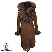 Одежда ручной работы. Ярмарка Мастеров - ручная работа Парка на меху, мех блюфрост, утеплитель мех ягнёнка Тоскана. Handmade.