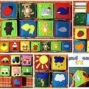 Куклы и игрушки ручной работы. Ярмарка Мастеров - ручная работа Развивающие Мульти-кубики (набор из 8 штук) (из фетра). Handmade.