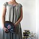 """Платья ручной работы. Ярмарка Мастеров - ручная работа. Купить Платье """"Чайное"""" в крапинку. Handmade. Авторская одежда, роза, хлопок"""