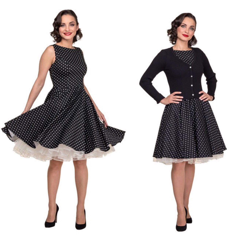 4a09b9bb2a0 Платья ручной работы. Ярмарка Мастеров - ручная работа. Купить Платье чёрное  в мелкий белый ...