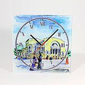 Для дома и интерьера handmade. Livemaster - original item Glass clock Yaroslavl. Handmade.