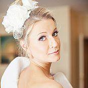 Свадебный салон ручной работы. Ярмарка Мастеров - ручная работа Свадебный ободок. Свадебная шляпка.. Handmade.