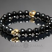 Украшения handmade. Livemaster - original item Black Onyx Skull Bracelet. Handmade.