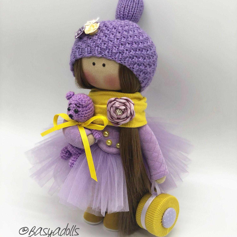 Текстильная интерьерная кукла ручной работы, Тыквоголовка, Москва,  Фото №1