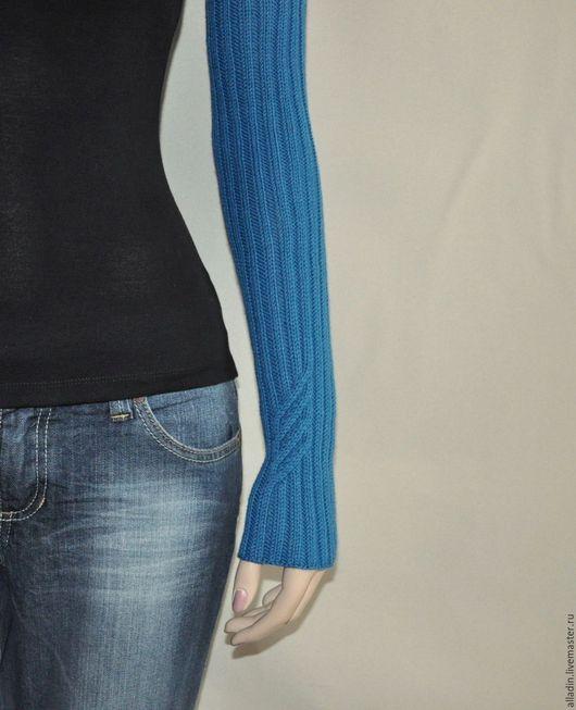 Варежки, митенки, перчатки ручной работы. Ярмарка Мастеров - ручная работа. Купить Рукава Marina (100% меринос). Handmade.