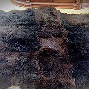 Меховой плед покрывало из длинношерстных овечьих шкур