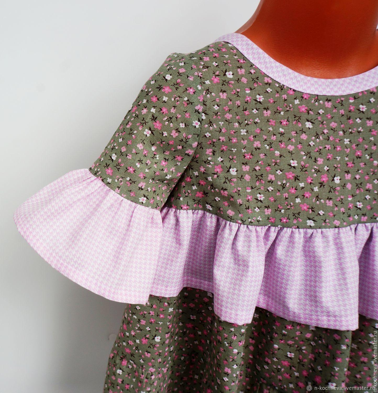 Платье Ситцевое Для Девочки В Цветочек