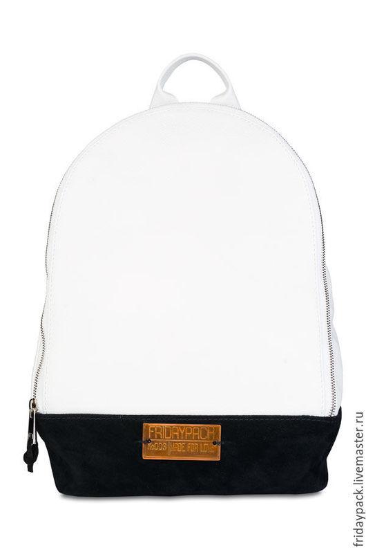 Рюкзаки ручной работы. Ярмарка Мастеров - ручная работа. Купить рюкзак клатч. Handmade. Чёрно-белый, рюкзак кожаный