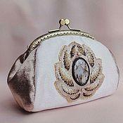 Сумки и аксессуары handmade. Livemaster - original item Handbag VICTORIAN STYLE agate, glass beads, pearls, velvet, brocade, canice. Handmade.