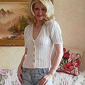 Одежда ручной работы. Ярмарка Мастеров - ручная работа Жакет вязаный на пуговицах. Handmade.