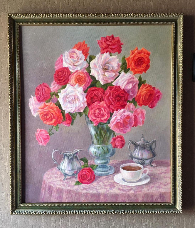 Букет роз Натюрморт, Картины, Краснодар,  Фото №1