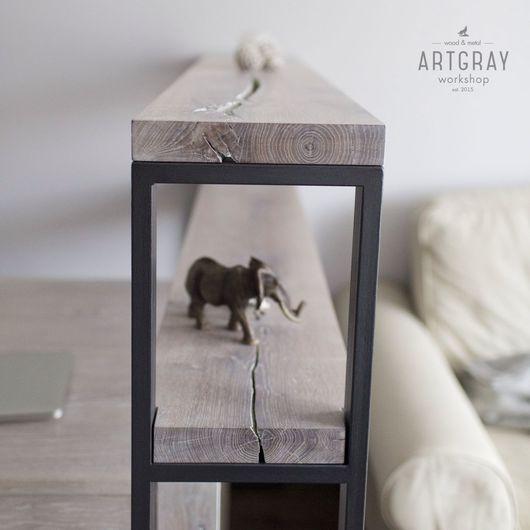 Мебель ручной работы. Ярмарка Мастеров - ручная работа. Купить Консоль из массива дуба в стиле лофт. Handmade. Дуб, дизайн