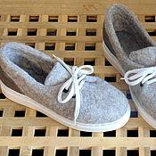 Обувь ручной работы. Ярмарка Мастеров - ручная работа Войлочные туфли, в наличии.. Handmade.