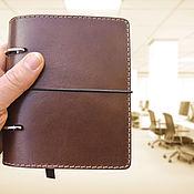 Канцелярские товары handmade. Livemaster - original item Nominal leather notebook A6 format. Handmade.