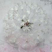 Украшения handmade. Livemaster - original item Silk flowers.Brooch Dandelion. Handmade.