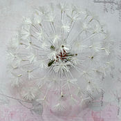 Украшения ручной работы. Ярмарка Мастеров - ручная работа Цветы из шелка.Брошь Одуванчик. Handmade.