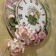 """Часы для дома ручной работы. Ярмарка Мастеров - ручная работа. Купить Часы """"Jardin"""",диаметр 30см.. Handmade. Белый"""
